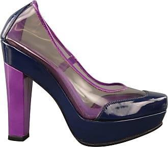 712f6bb419 Black Vernis Leather Dice Peep Toe Platform Pumps Size 39. USD $497.00.  Delivery: Delivery costs apply. Louis Vuitton Size 6 Purple & Navy Clear  Vinyl ...