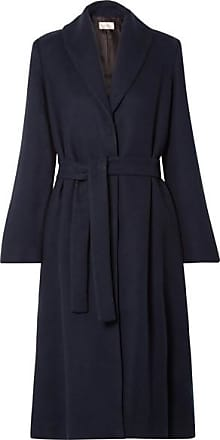 The Row Dranner Belted Cotton And Wool-blend Coat - Navy