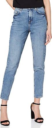 Pieces Womens PCLEAH MOM HW ANK MB213-BA/NOOS Boyfriend Jeans, Blue (Medium Blue Denim Medium Blue Denim), S