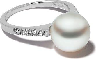 Yoko London 18kt white gold Classic Freshwater pearl and diamond ring - 7