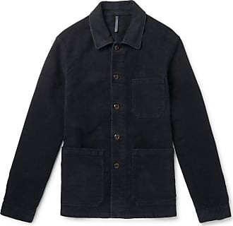 Incotex Cotton-moleskin Shirt Jacket - Navy