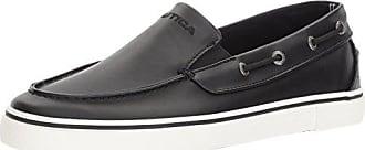Nautica Mens Doubloon Boat Shoe, Black Smooth, 8.5 Medium US