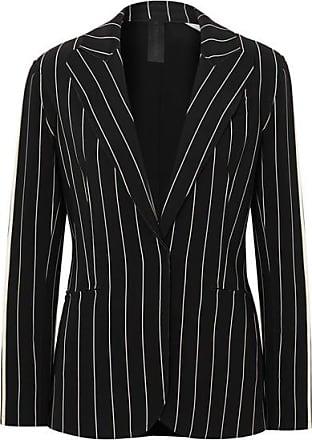 Norma Kamali Striped Stretch-jersey Blazer - Black