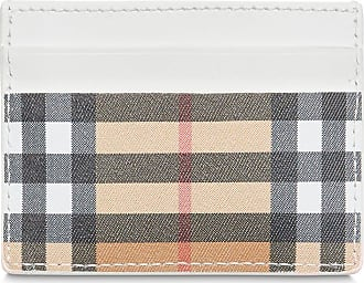 Burberry Vintage Check and Leather Card Case - Neutro