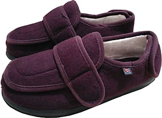 Insun Unisex Extra Wide Shoes for Edema Orthopaedic Fasciitis Wine Red 3.5 UK Wide Women/3.5 UK Wide Men