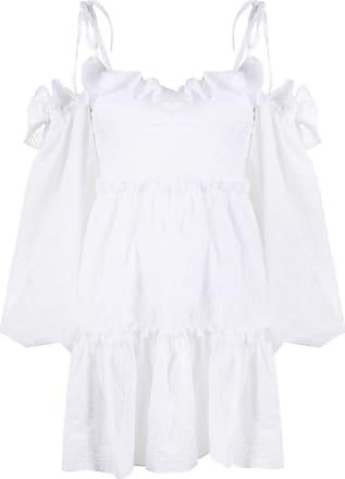 WANDERING Blusa com acabamento de babados - Branco