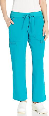 Dickies Womens Mid Rise Rib Knit Waistband Pant Medical Scrubs, Teal, Medium