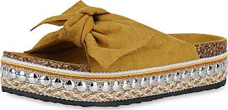 Scarpe Vita Women High-Heeled Sandals Mules Ribbons Rivets 191122 UK 4 EU 37 Dark Yellow