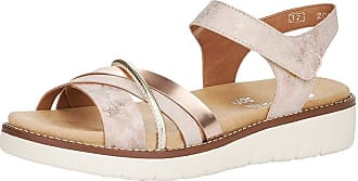 Remonte Women Sandals, Ladies Strappy Sandals,Summer Shoes,Summer Sandal,Comfortable,Flat,rosa/Rosegold/Kupfer / 31,45 EU / 10.5 UK