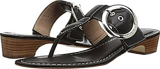 Bernardo Womens Grace Wedge Sandal, Black Antique Calf, 8.5M M US