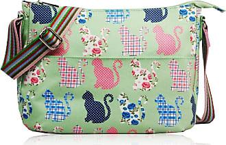 Craze London SALE Cats & Kittens CK Designer Style Matte Canvas Messenger Bag (Green)