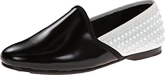 Gentle Souls by Kenneth Cole Womens Edge-Y2 Flat,Black/White,6 M US