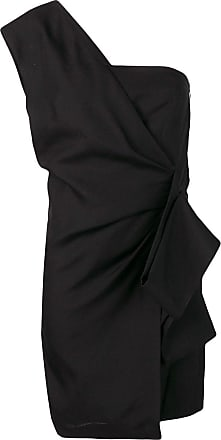 Victoria Beckham Vestido negro asimétrico recto