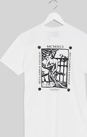 Reclaimed Vintage inspired t-shirt in white with goddess back print in white