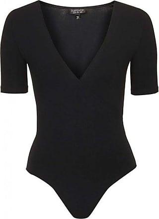 Topshop Wrap Front Bodysuit Black (6)