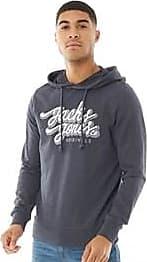 Jack & Jones lightweight pull over jersey graphic hoodie