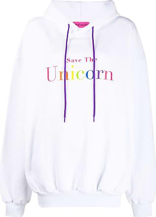 Ireneisgood Moletom Save The Unicorn com capuz - Branco