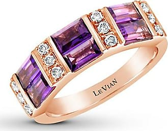 Le Vian Grape Amethyst Ring 1/4 ct tw Nude Diamonds 14K Gold