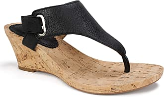 White Mountain Womens All Glad Leather Sandal, Black, 5 UK