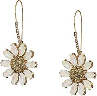 Betsey Johnson Flower Drop Earrings (Yellow) Earring
