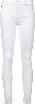 7 For All Mankind Calça jeans skinny com aplicação - Branco