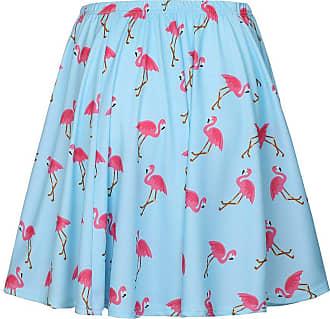 junkai Women High Waist Skirt, Elegant Stretchy Swing Skirt Comfy Elastic Waist Animal Pattern Knee Length Pleated Skirt for Women Ladies Plus Size
