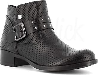 Generico Generic Made in Italy Leather Boot with Buckle - Black Black Size: 4 UK