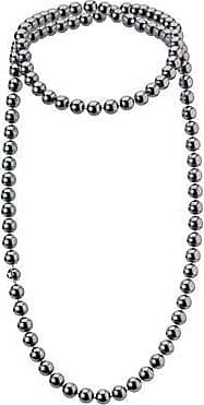 Misaki Collier sautoir long Celest de perles noires