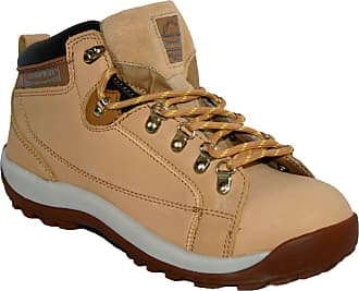 Groundwork Ladies GR387 Leather Uppers Smart/Casual LACE UP Steel Toe Cap Safety Boot Honey 5
