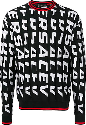 Versace all-over-print knit sweater - Black