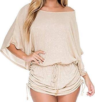 Luli Fama Womens Cosita Buena South Beach Dress Cover Up, Gold Rush, L
