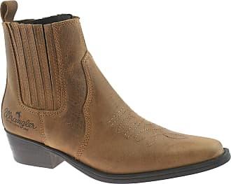 Wrangler Mens Leather Cowboy Boots Size UK 7-12 TEX MID Brown WM122981K-UK 12 (EU 46)