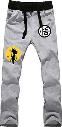 Cosstars Anime Dragon Ball Z Goku Sweatpants Trousers Cosplay Costume Sport Jogging Long Pants with Pockets Grey 1 XL