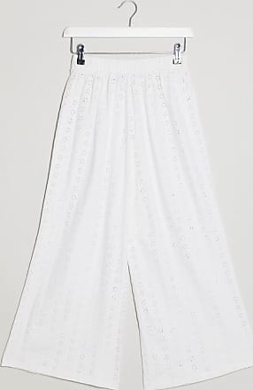 Asos culotte in broderie-White