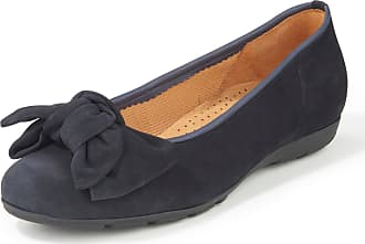 Gabor Ballerina pumps leather bow Gabor blue