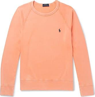 Polo Ralph Lauren Fleece-back Cotton-jersey Sweatshirt - Orange b5f31ef717ef