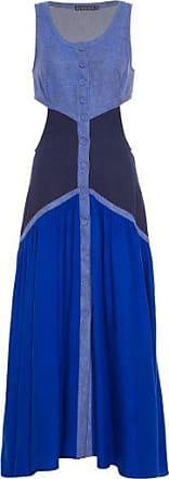 Bianza Vestido Line Vazado Bianza - Azul