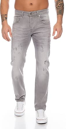 Rock Creek Mens Jeans Destroyed Grey RC-2105 [W42 L32]