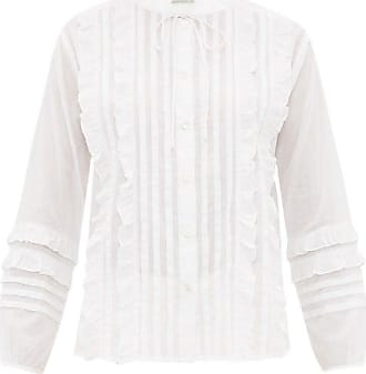 Queene and Belle Queene And Belle - Ashley Ruffled And Pleated Cotton Blouse - Womens - White