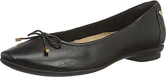 Clarks Damen Candra Light Geschlossene Ballerinas, Schwarz (Black Leather),  36 EU 734543fcb9