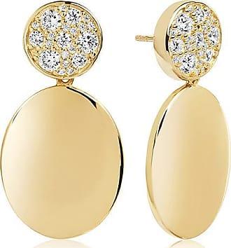 Sif Jakobs Jewellery Ohrringe Novara Uno Grande - 18K vergoldet mit weißen Zirkonia