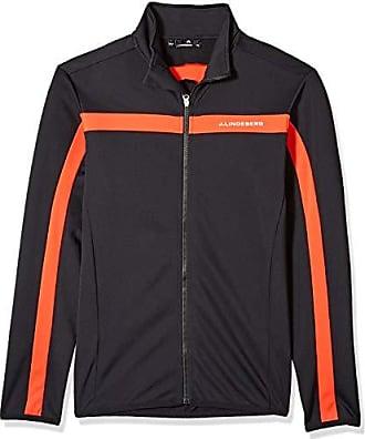 J.Lindeberg Mens Bridge Logo Midlayer Jacket, Racing red, XX-Large