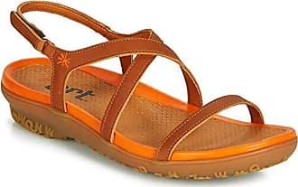37d36aef92a2b1 Art Antibes Sandalen Sandaletten Damen Braun Orange - 36 - Sandalen  Sandaletten