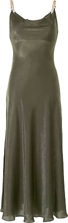 0711 Vestido com decote volumoso - Verde