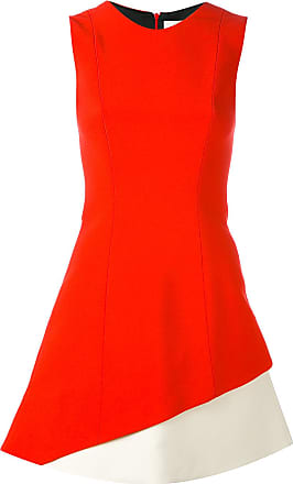 FAUSTO PUGLISI Vestido color block - Vermelho