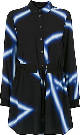 Alcaçuz Camisa Lenitivo estampada - Azul
