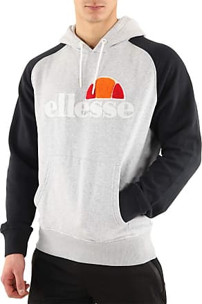 Ellesse Mens Hoodie Bicolore Bouclette, Sweatshirt - S Grey