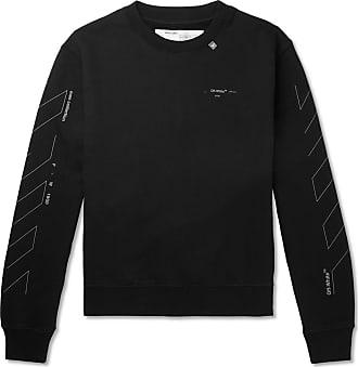 c3867e49f Off-white Printed Loopback Cotton-jersey Sweatshirt - Black