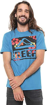 Reef Camiseta Reef Logo Hibiscus Azul