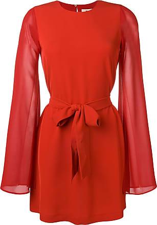 Blanca Vestido mangas longas - Vermelho